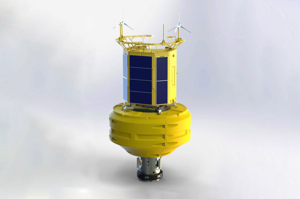 CGI image of the new yellow data buoy
