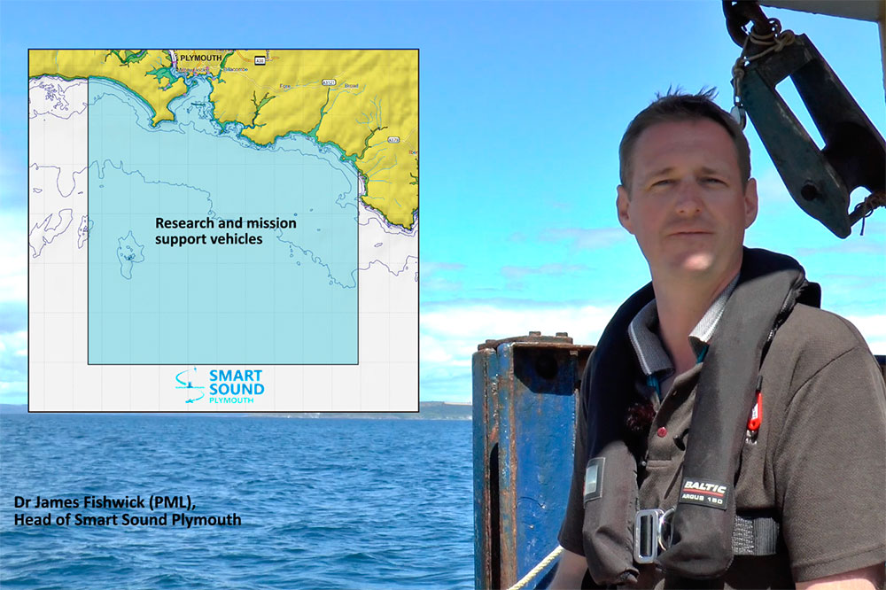 Screenshot of the video showing James Fishwick talking to camera